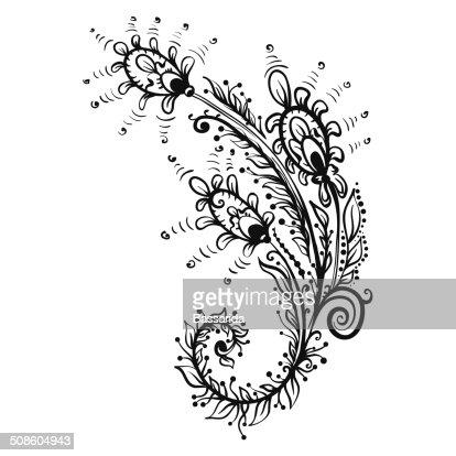 Pena silhueta preto pavão : Arte vetorial