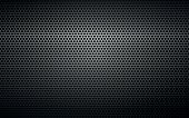black perforated metal background texture industry pattern