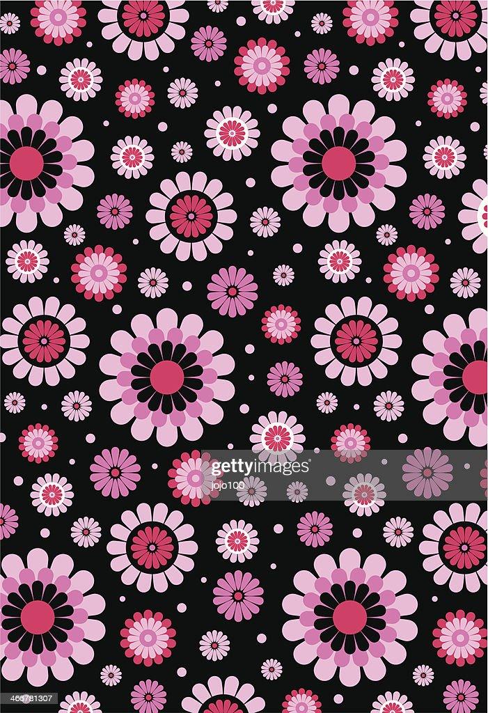 Pink Polka Dot Patterns Black Pink Cute...