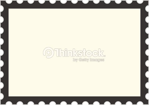Black Postage Stamp Template Vector Art | Thinkstock