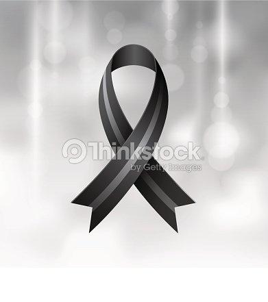 Black Ribbon Mourning And Melanoma Symbol Vector Art Thinkstock