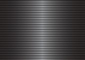 Scanning screen. Black and gray abstract background with stripes. Scan, monitor, glow. Vector illustration.