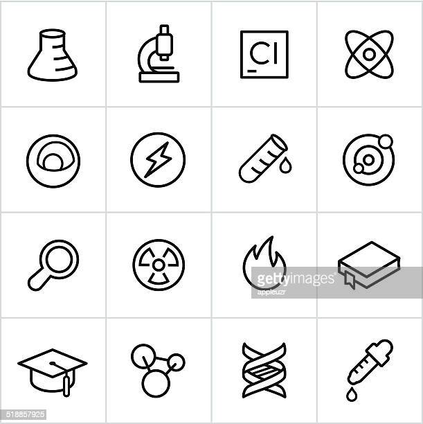 Black Science Icons - Line Style