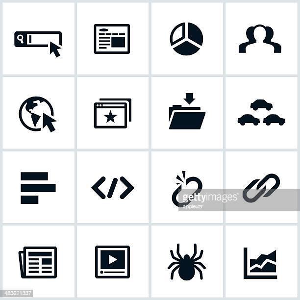 Black SEO Icons