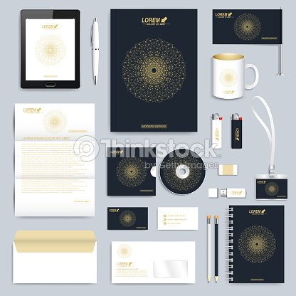 Black set of vector corporate identity template modern business black set of vector corporate identity template modern business stationery vector art cheaphphosting Gallery