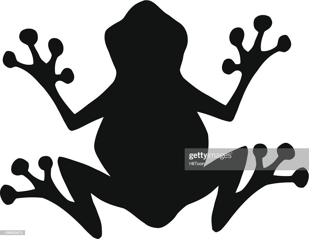 black silhouette frog vector art thinkstock rh thinkstockphotos com Badge Vector Vector Drawing
