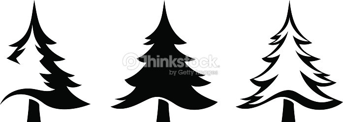 Black Silhouettes Of Fir Trees Vector Illustration Vector