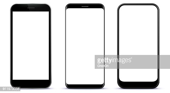 Black Smart Phones Vector Illustration : Vector Art