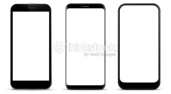 Black Smart Phones Vector Illustration : stock vector