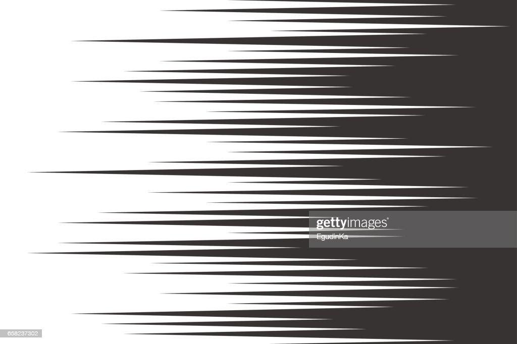 Horizontal Line Art : Black speed horizontal lines vector art thinkstock
