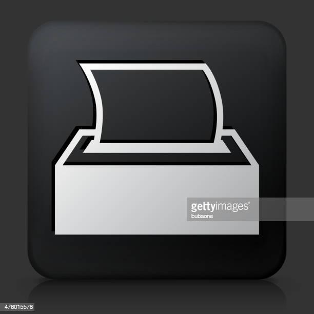 Black Square Button with Tissue Icon