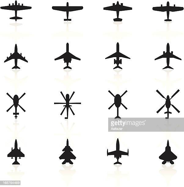 Black Symbols - Airplanes & Helicopters