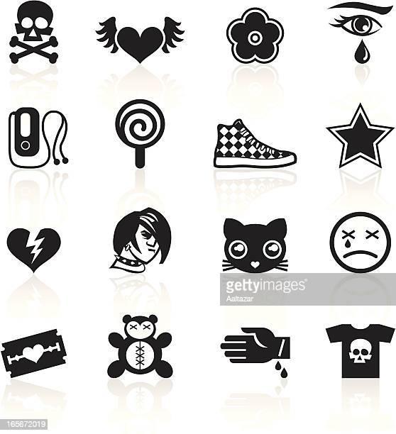 Emo símbolos, negro
