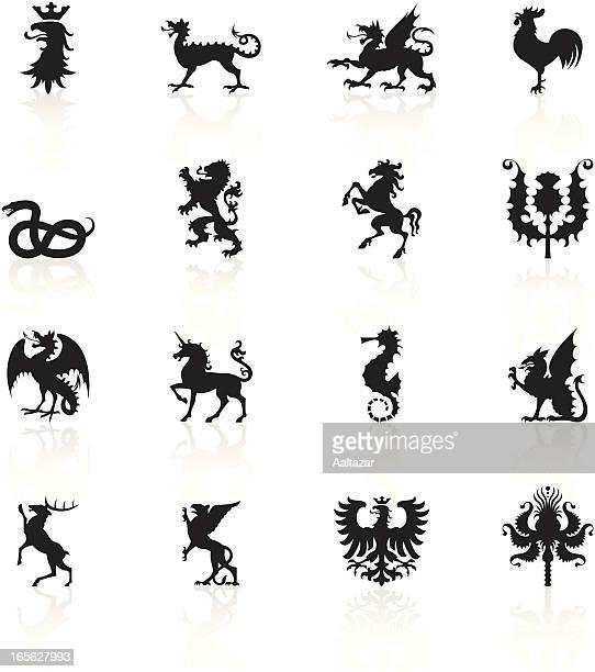 Black Symbols - Heraldic Animals