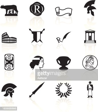 black symbols roman empire vector art getty images