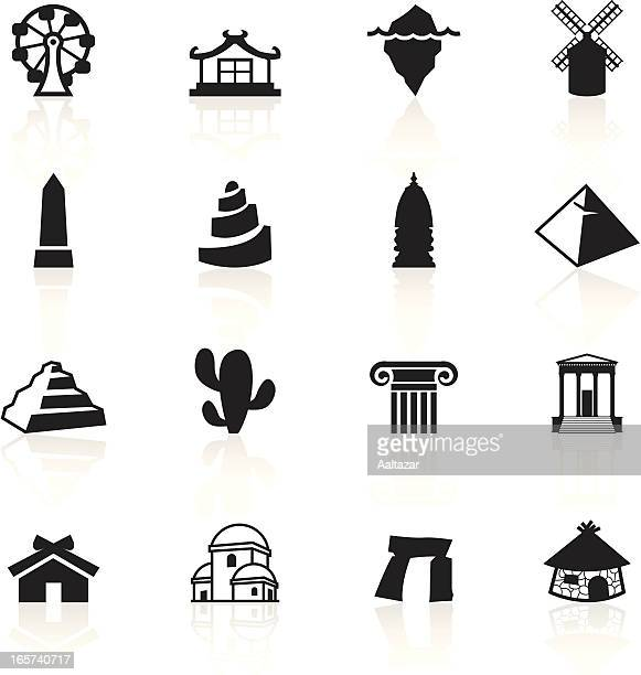 Schwarze Symbole/Reisen