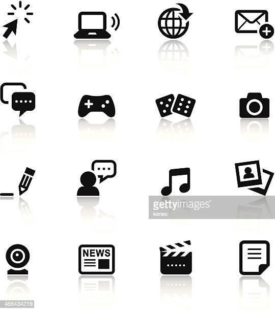 Black & White Icons Set | Social Media