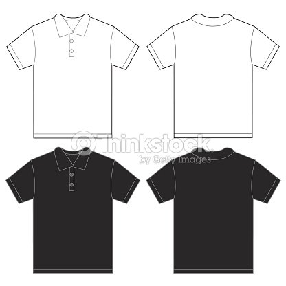 Black White Polo Shirt Design Template For Men Vector Art