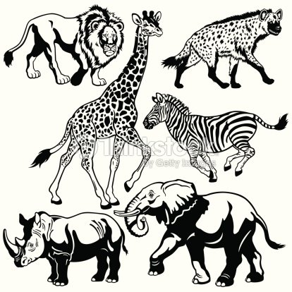 african black and white art