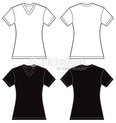 black v neck t shirt template - photo #30