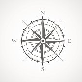 Black wind rose isolated illustration
