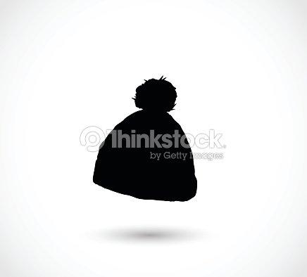 61dd9a0d26f Black Winter Hat Icon Vector stock vector