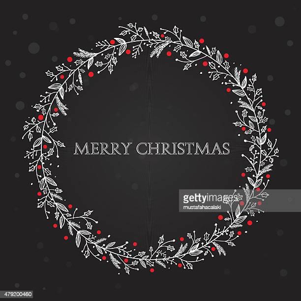 Black xmas wreath