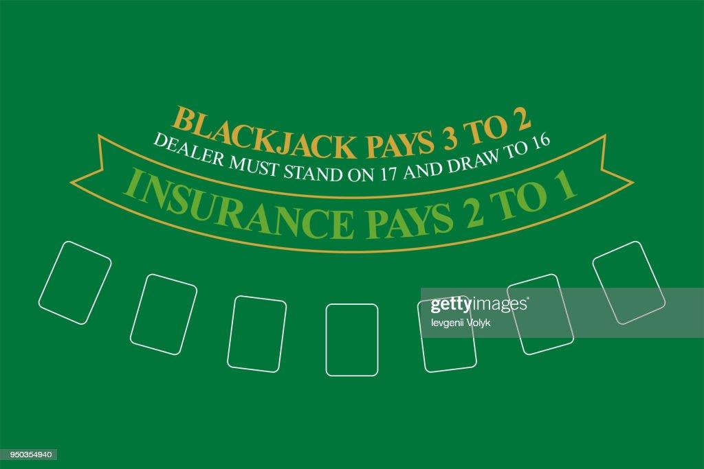 Blackjack Table. Top View