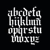 Vector blackletter calligraphy font
