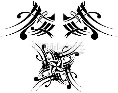 tatuaggio tribale nerobianco design arte vettoriale. Black Bedroom Furniture Sets. Home Design Ideas