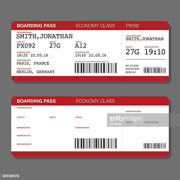 Airplane Ticket Vector Art And Graphics Getty Images