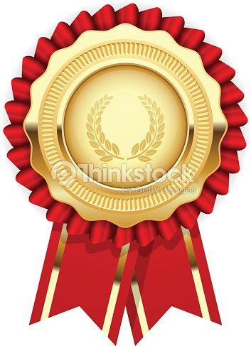 Blank award template rosette with golden medal vector art thinkstock blank award template rosette with golden medal vector art maxwellsz