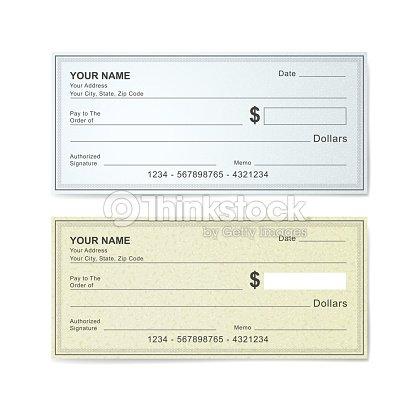 Leere Bankvorlage Vektorgrafik   Thinkstock