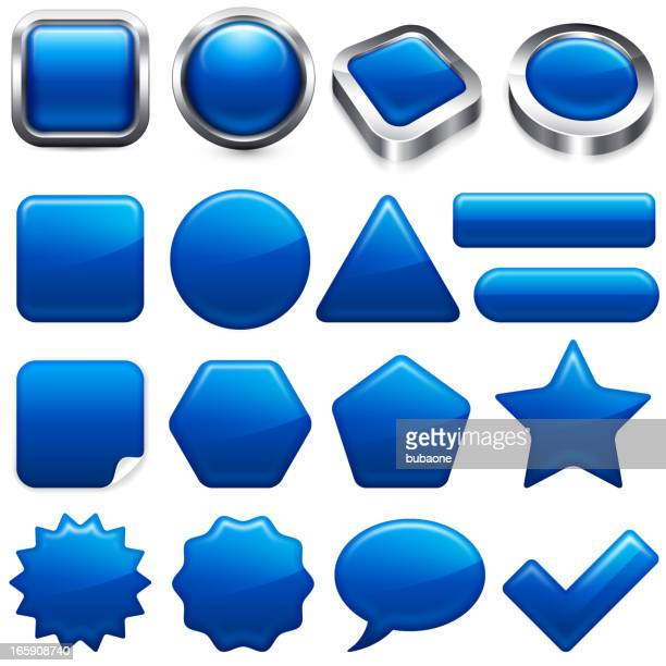 Blank Blue buttons app and interface computer icons