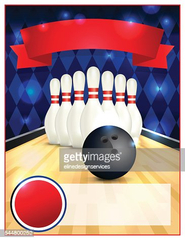 Blank Bowling Flyer Template Illustration Vector Art | Thinkstock
