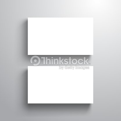 blank business card template mock up for name card vector illustration