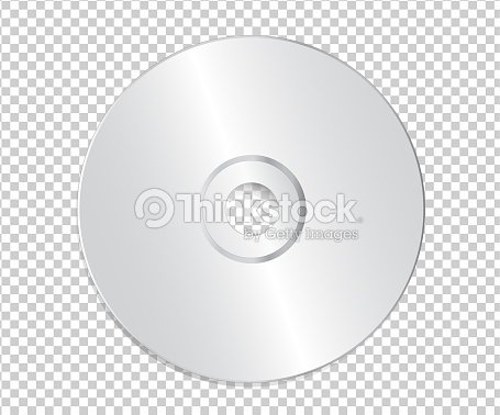 blank cd template on transparent background with shadow vector art