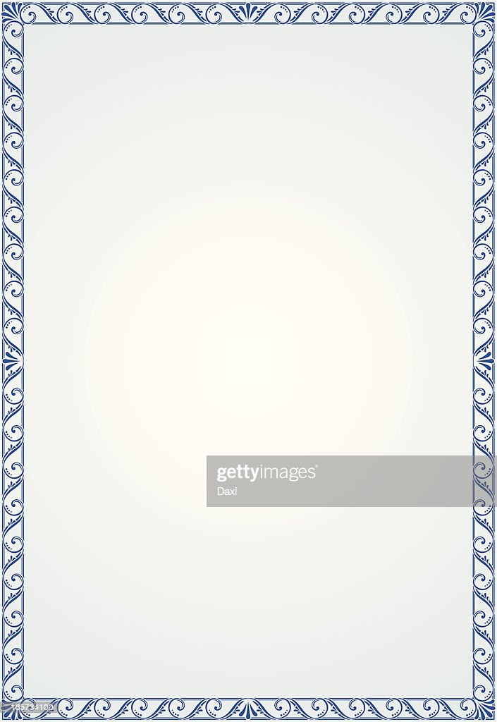 Blank certificate vector art getty images for Vector certificate