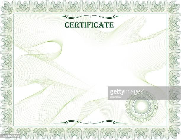 Leere Zertifikat