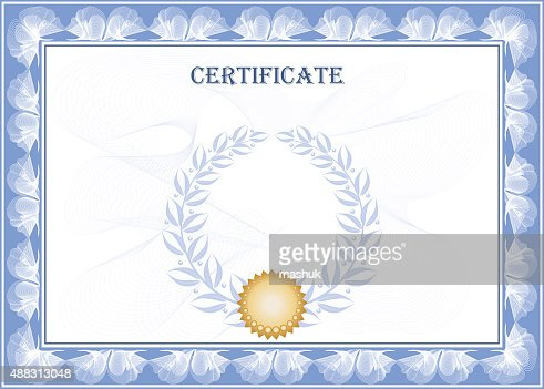 Blank Certificate Vector Art  Getty Images
