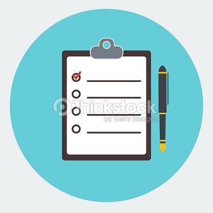 blank checklist form todo list with office supplie vector art