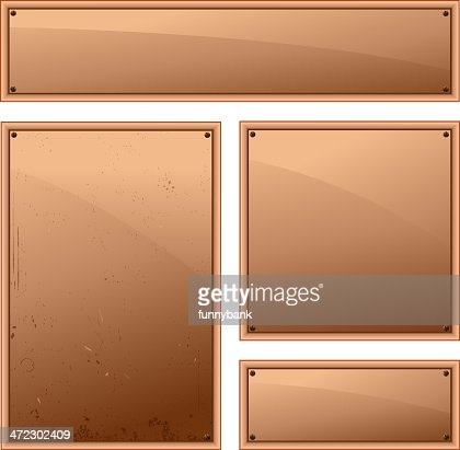 blank copper frame vector art