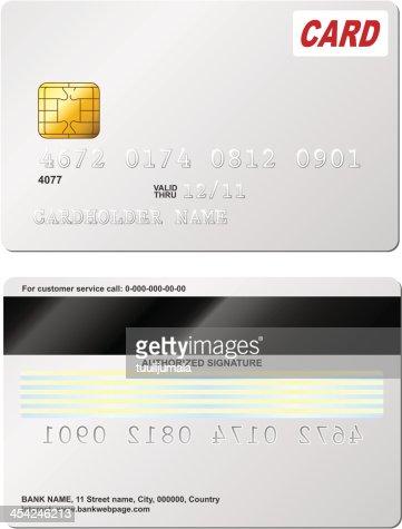 Blank credit card : Vector Art