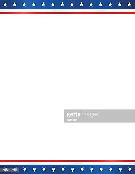 USA elezione design modello vuoto in formato lettera sfondo bianco