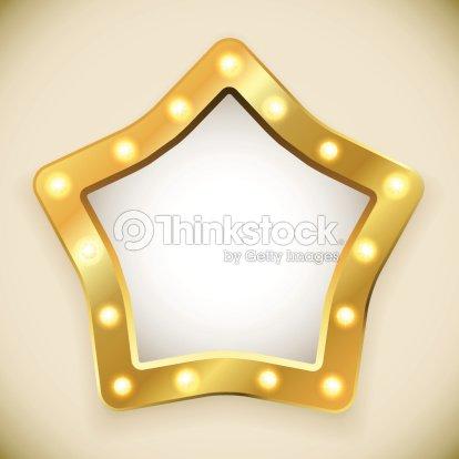 Blank Golden Star Frame Vector Art   Thinkstock