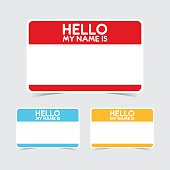 Colorful set of vector name tag stickers.