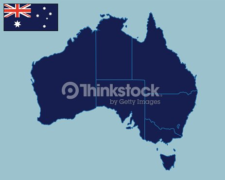 Blank Map Of Australia Vector Art | Thinkstock