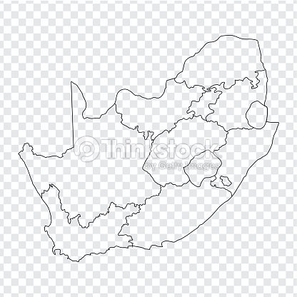 Blank Map South Africa High Quality Map Of South Africa With The