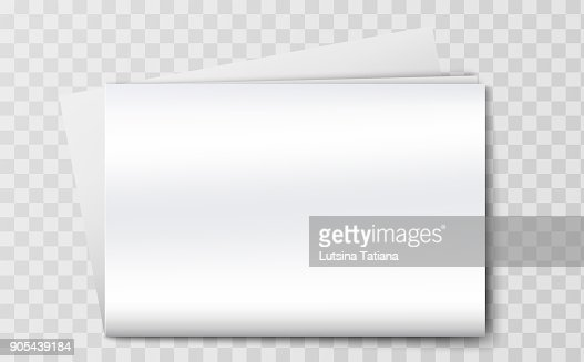 Blank Newspaper Mockup Isolated On The Transperant Background Vector