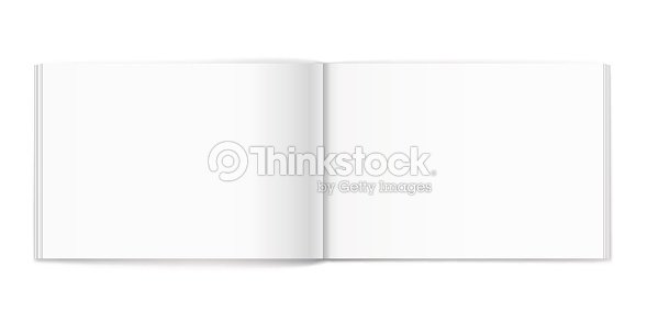blank of open album on white background template ベクトルアート